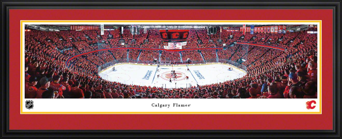 Calgary Flames Panoramic - Scotiabank Saddledome Picture