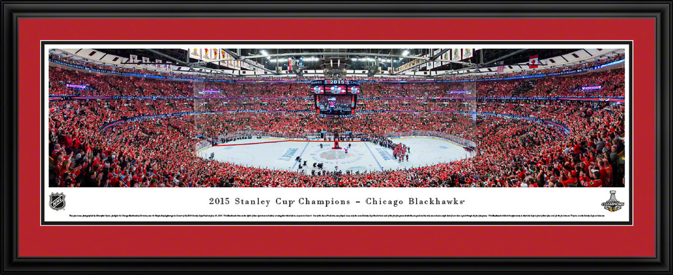 2015 Stanley Cup Panoramic Picture - Chicago Blackhawks