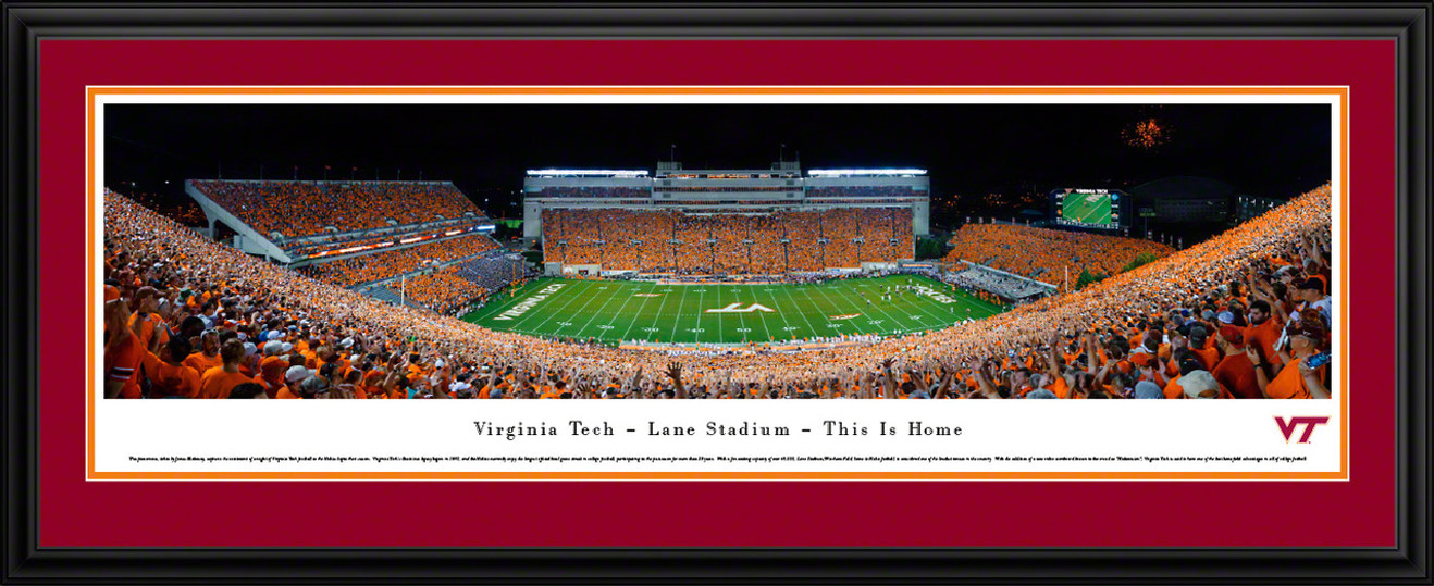 Virginia Tech Hokies Panoramic Picture - Lane Stadium / Worsham Field Panorama