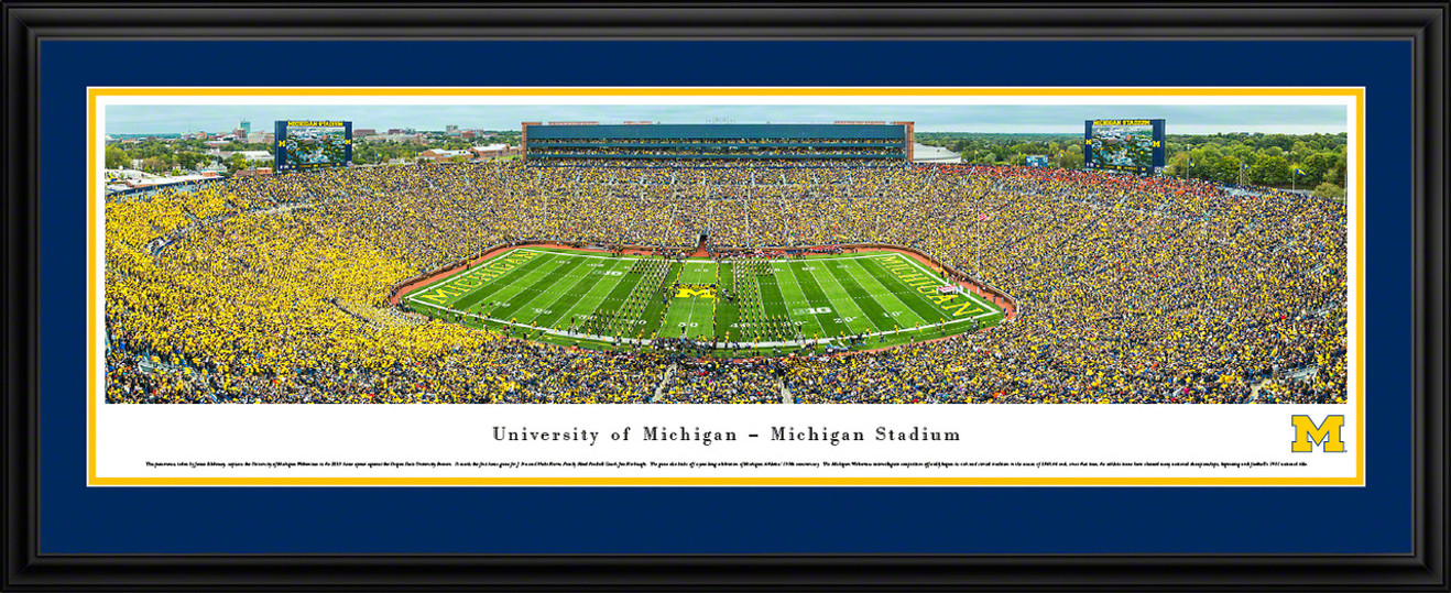 Michigan Wolverines Big House Panoramic Picture - Michigan Stadium