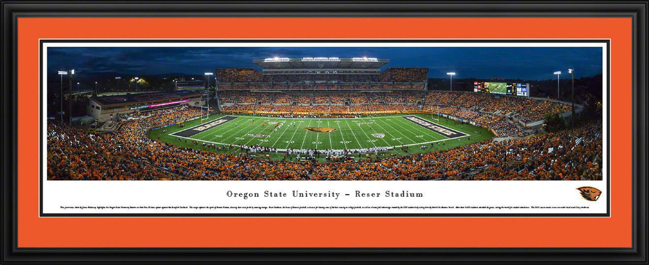 Oregon State Beavers Panoramic Picture - Reser Stadium Panorama