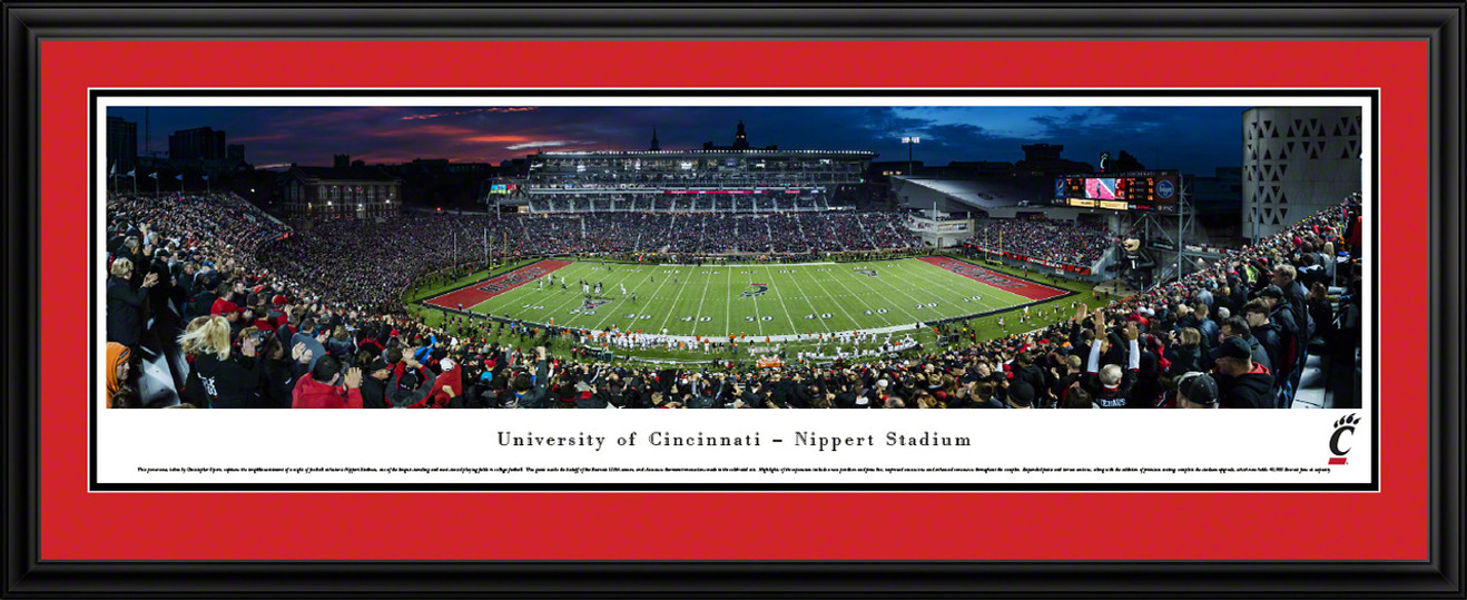 Cincinnati Bearcats Panoramic Picture - Nippert Stadium Panorama