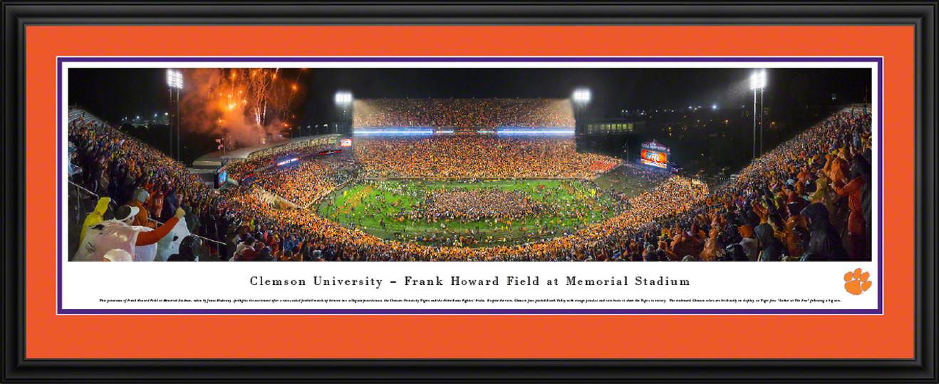 Clemson Tigers Memorial Stadium Football Panoramic Picture