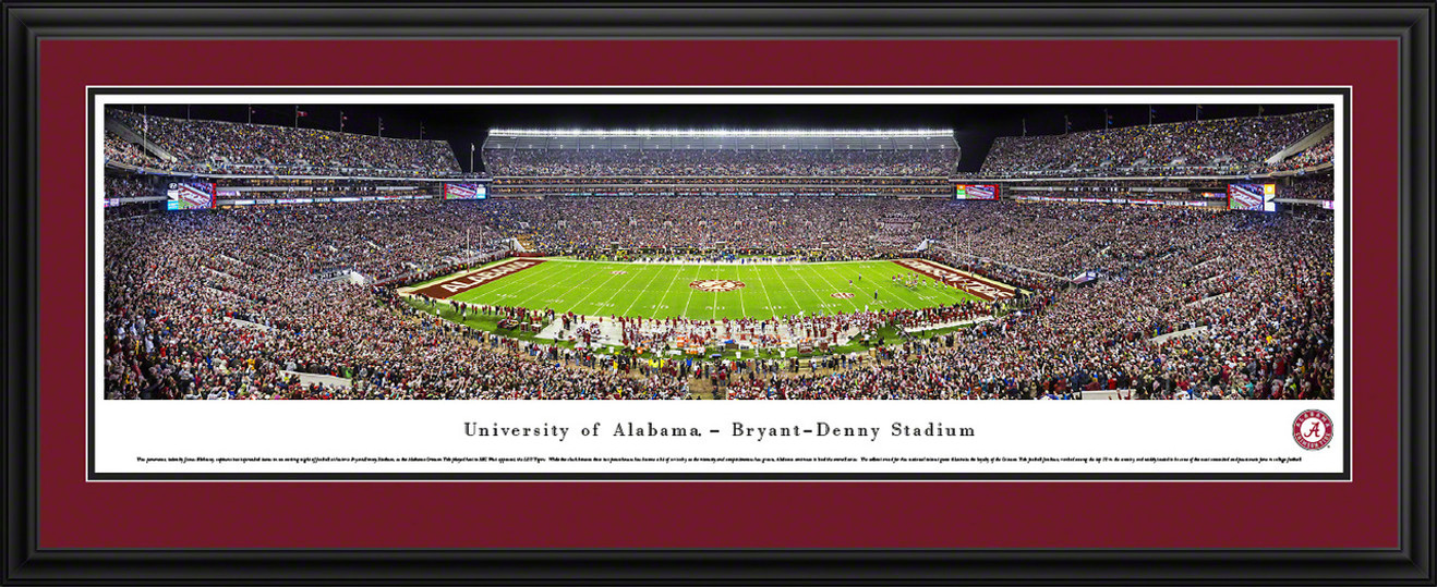 Alabama Crimson Tide Panoramic Picture - Bryant-Denny Stadium Panorama