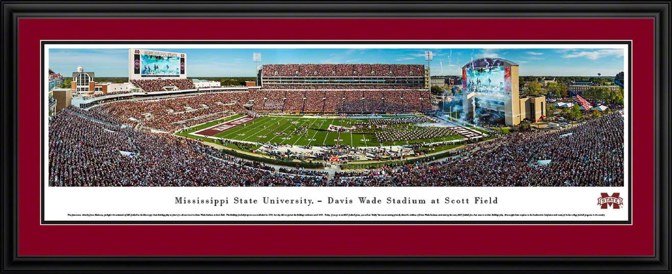 Mississippi State Bulldogs Football Panoramic - Davis Wade Stadium Panorama