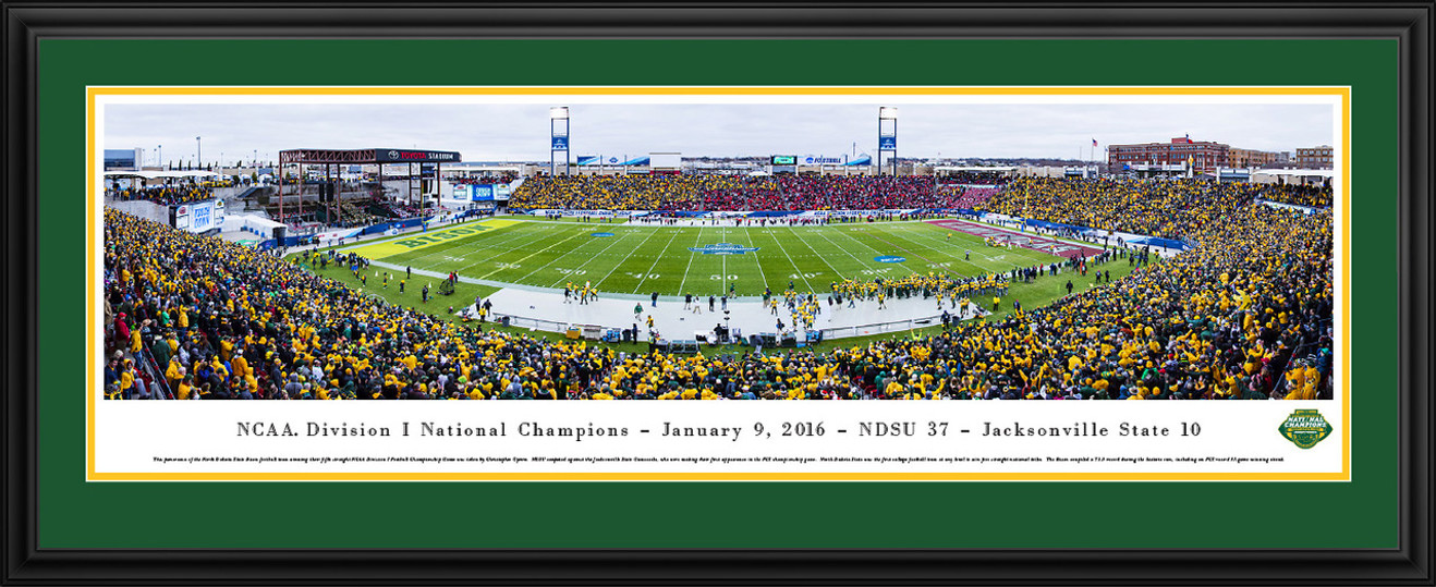 2016 NCAA FCS Football Championship Panoramic Picture - NDSU Bison