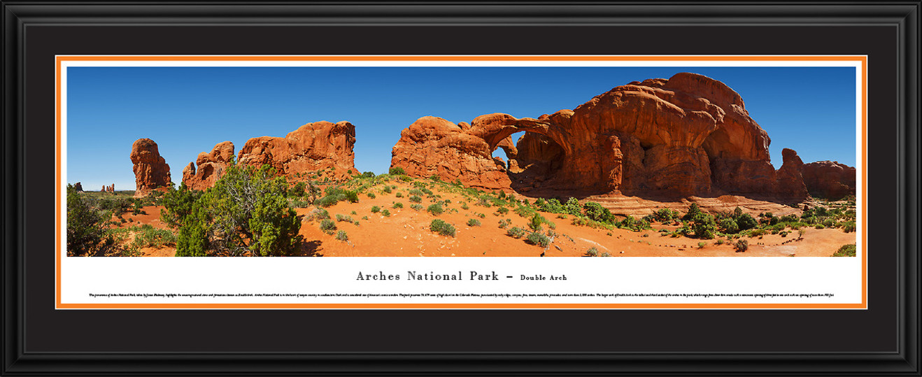 Arches National Park Panoramic Picture - Double Arch