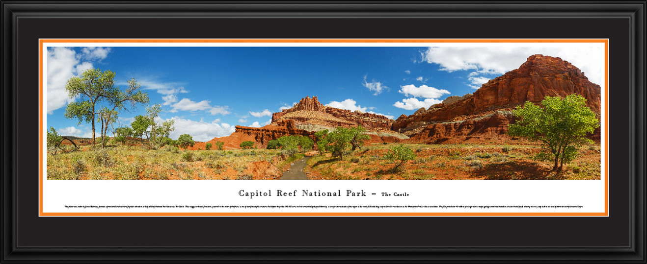 Capitol Reef National Park Panoramic Picture - The Castle