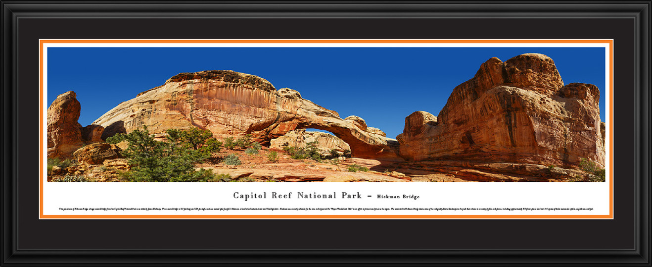 Capitol Reef National Park Panoramic Picture - Hickman Bridge