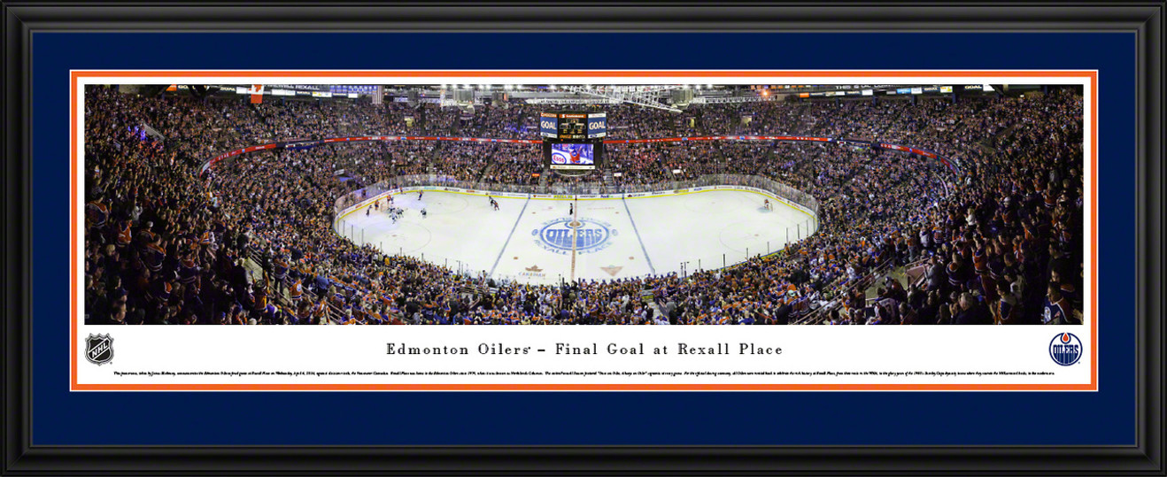 Edmonton Oilers Panoramic Picture - Rexall Place Final Game Panorama