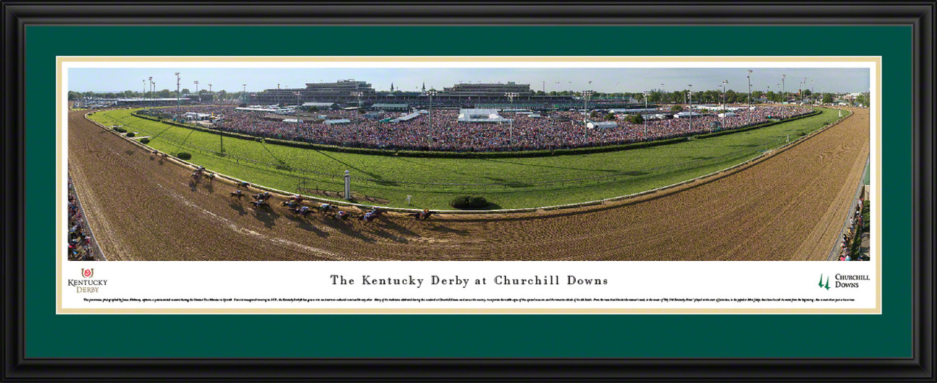 Kentucky Derby at Churchill Downs Panoramic Picture - Horse Racing