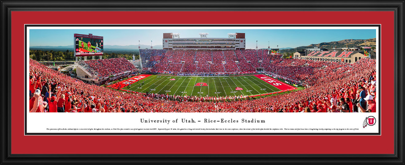 Utah Utes Football Panoramic Picture - Rice-Eccles Stadium Panorama