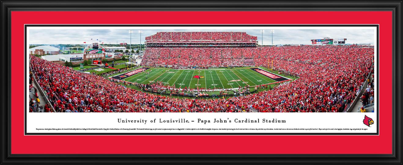 Louisville Cardinals Football Panorama - Papa John's Cardinal Stadium Panoramic Picture