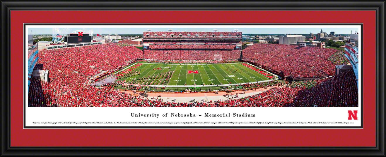 Nebraska Cornhuskers Football Panorama - Memorial Stadium Panoramic Picture