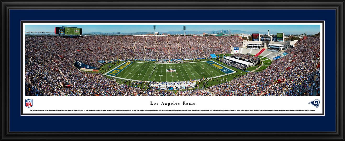 Los Angeles Rams Panoramic Picture - Los Angeles Memorial Coliseum Panorama