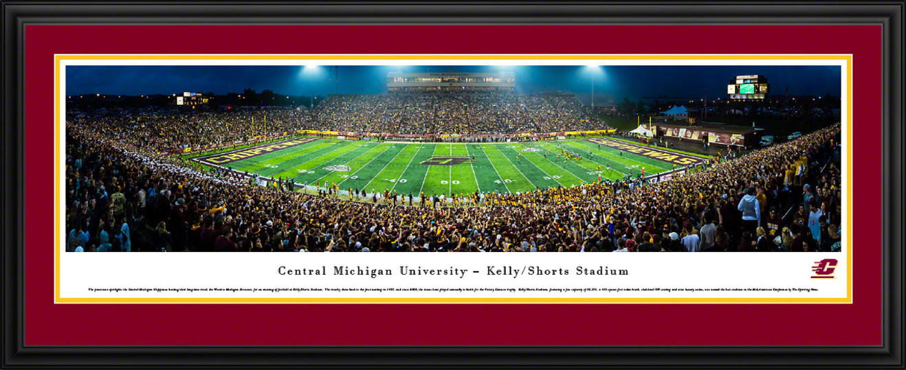 Central Michigan University Chippewas Football Panoramic Picture - Kelly/Shorts Stadium