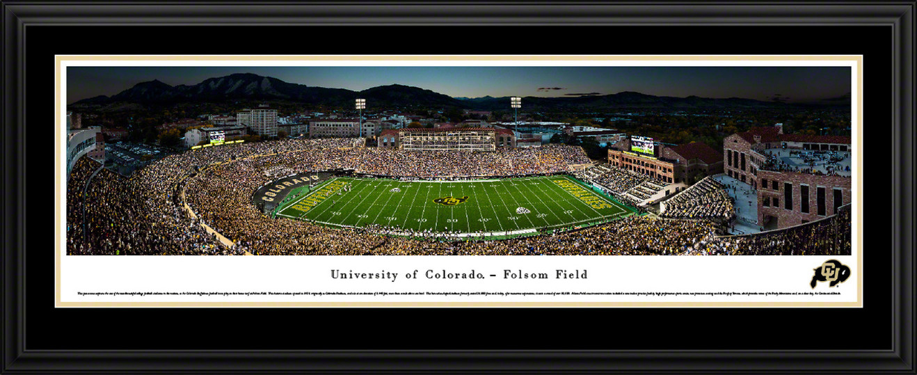 Colorado Buffaloes Football Panoramic Picture - Folsom Field