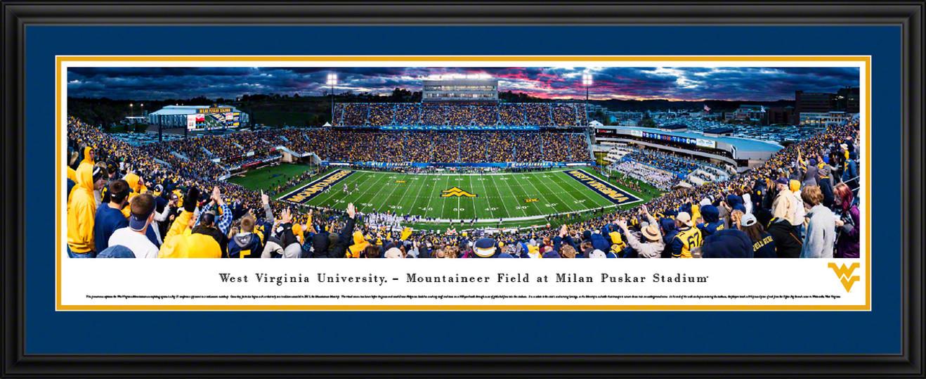 West Virginia Mountaineers Panorama - WVU Milan Puskar Stadium Picture