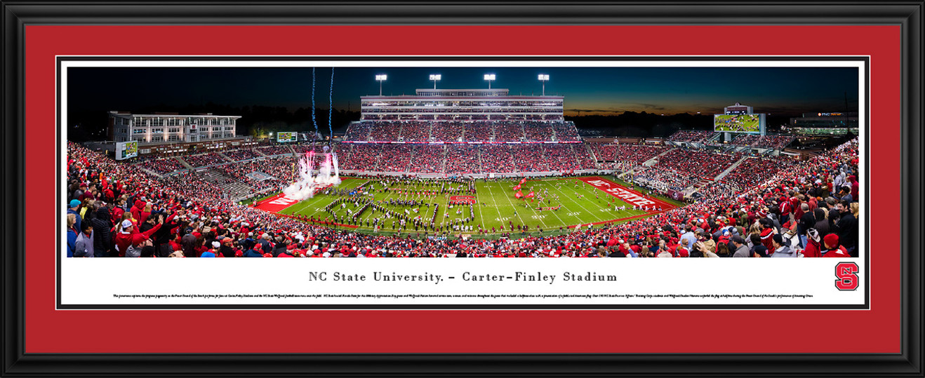 NC State Wolfpack Football Panoramic Picture - Carter-Finley Stadium
