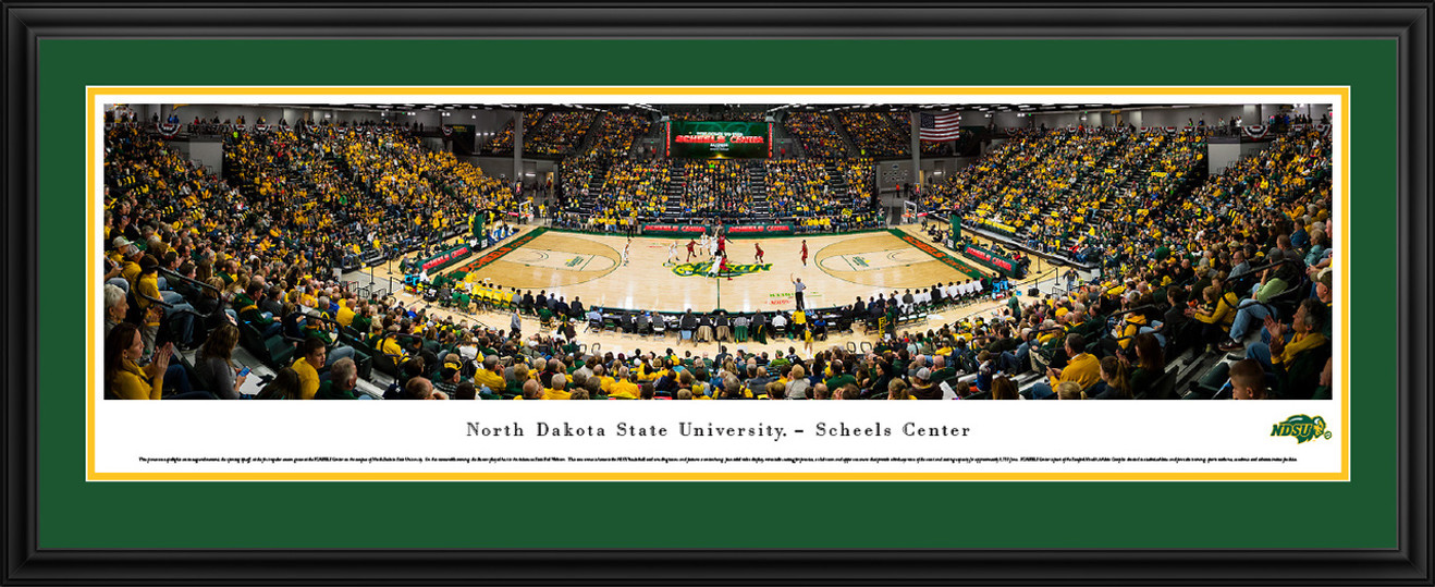 North Dakota State Bison Basketball Panorama - NDSU SCHEELS Center