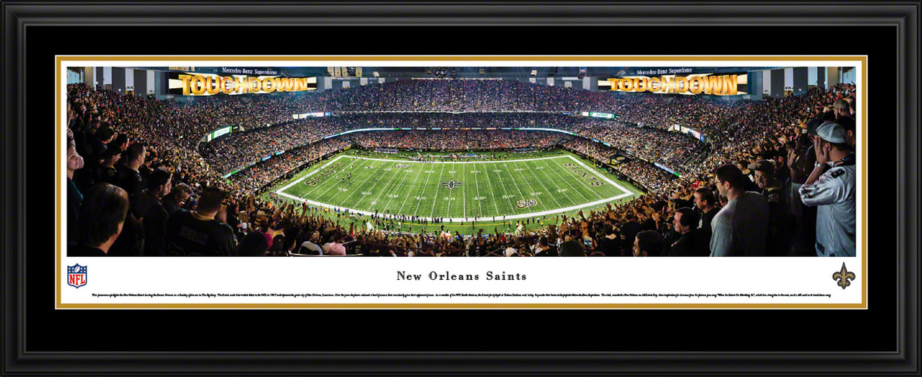 New Orleans Saints Panoramic Picture - Mercedes-Benz Superdome