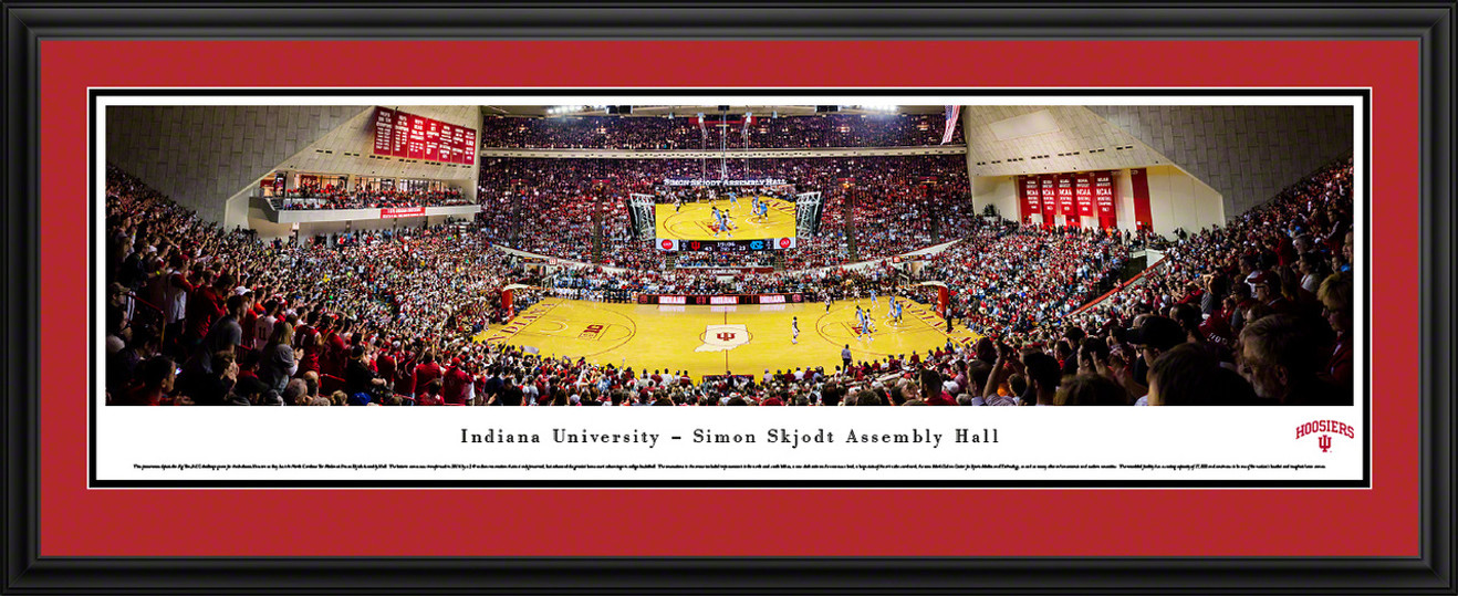 Indiana Hoosiers Basketball Panoramic Picture - Simon Skjodt Assembly Hall