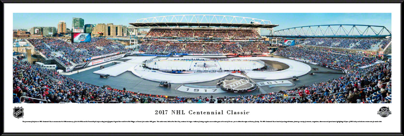 2017 NHL Centennial Classic Panoramic Picture - Toronto Maple Leafs vs. Detroit Red   Wings