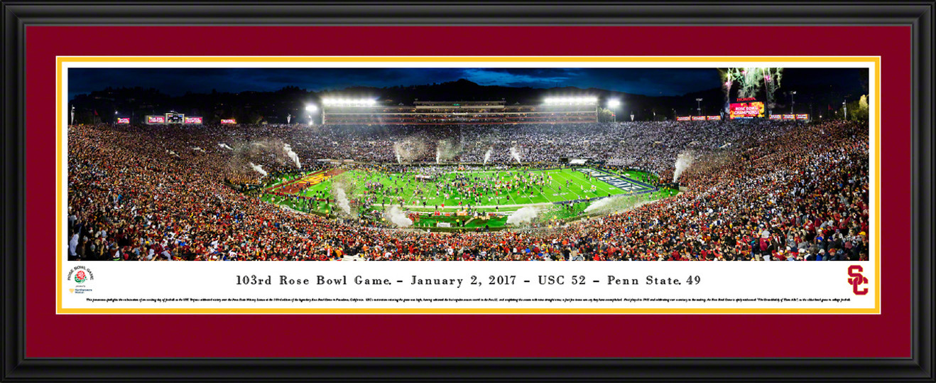 2017 Rose Bowl Panoramic Picture - USC Trojans