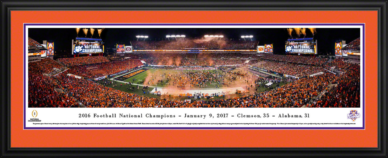2017 CFP Panoramic Picture - Clemson Tigers College Football Playoff Championship