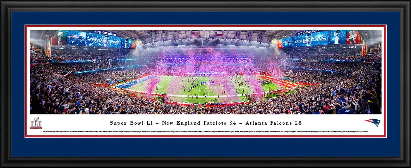 2017 Super Bowl LI Panoramic Picture - New England Patriots