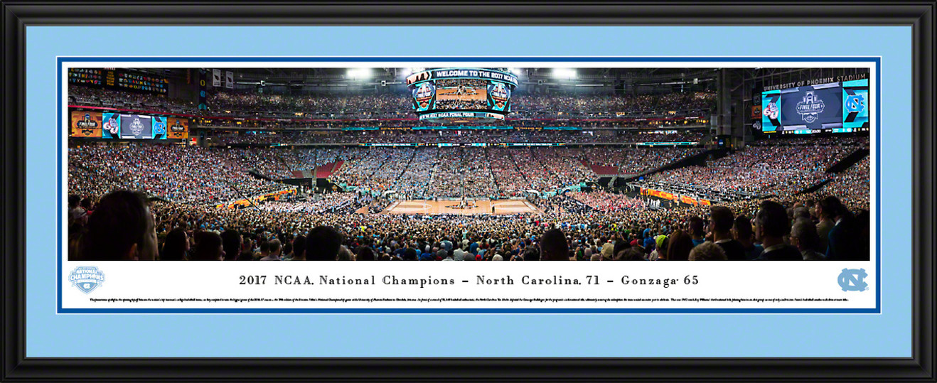 2017 NCAA Championship Basketball Panoramic Picture - North Carolina Tar Heels
