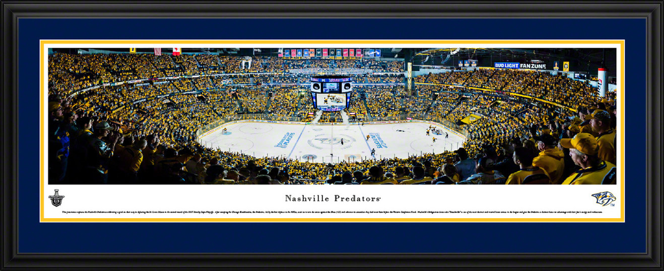 Nashville Predators Panoramic Picture - Bridgestone Arena - Stanley Cup Playoffs