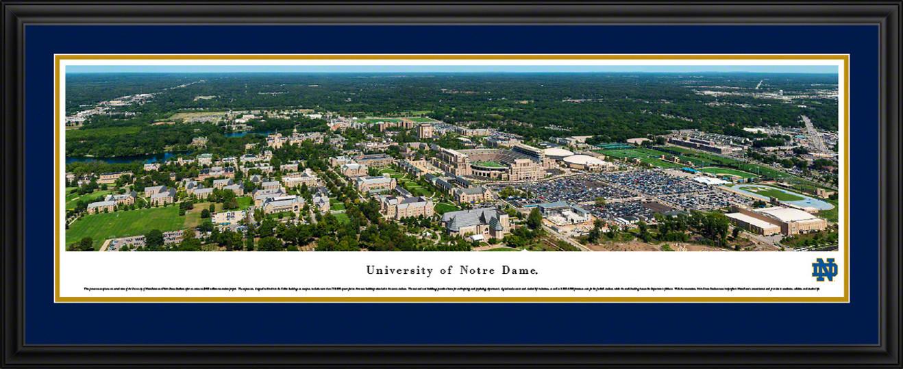 University of Notre Dame Fighting Irish Aerial Panorama  - Notre Dame Stadium