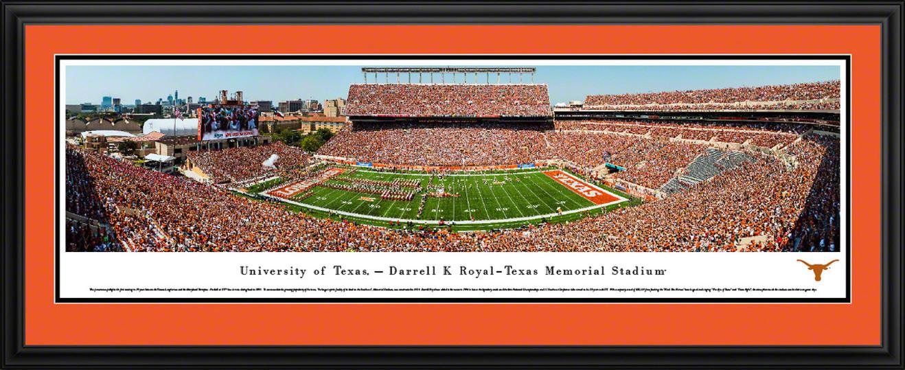 Texas Longhorns Football Panoramic Picture - Darrell K Royal-Texas Memorial Stadium