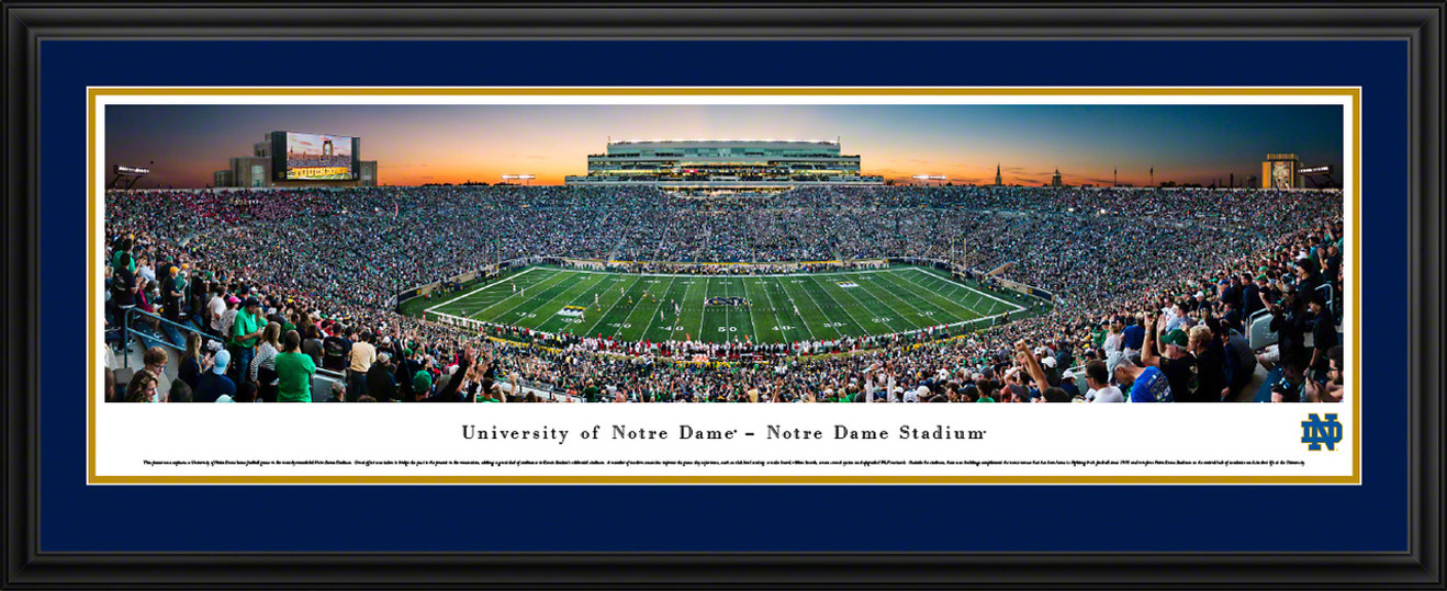 Notre Dame Fighting Irish Football Panoramic Picture - Twilight