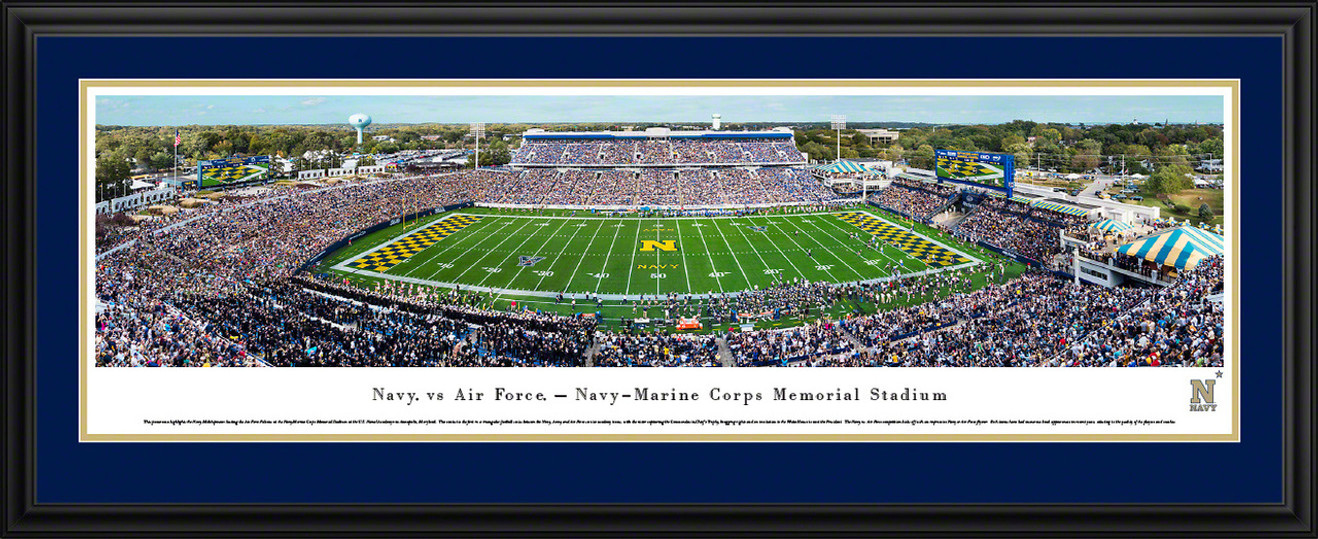 Navy Midshipmen Football Panoramic Picture - Navy-Marine Corps Memorial Stadium