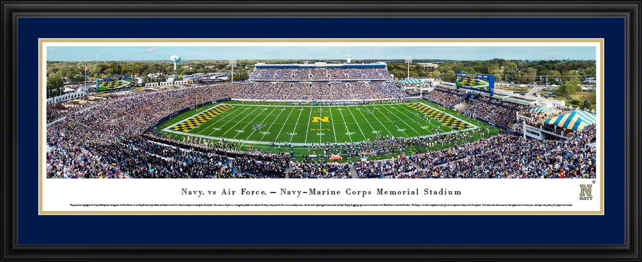 Navy Midshipmen Football Panoramic Picture - Navy-Marine Corps Memorial Stadium