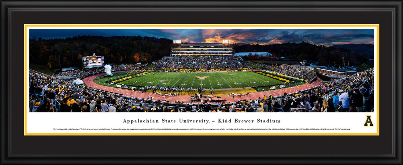 Appalachian State Mountaineers Football Panorama - Kidd Brewer Stadium