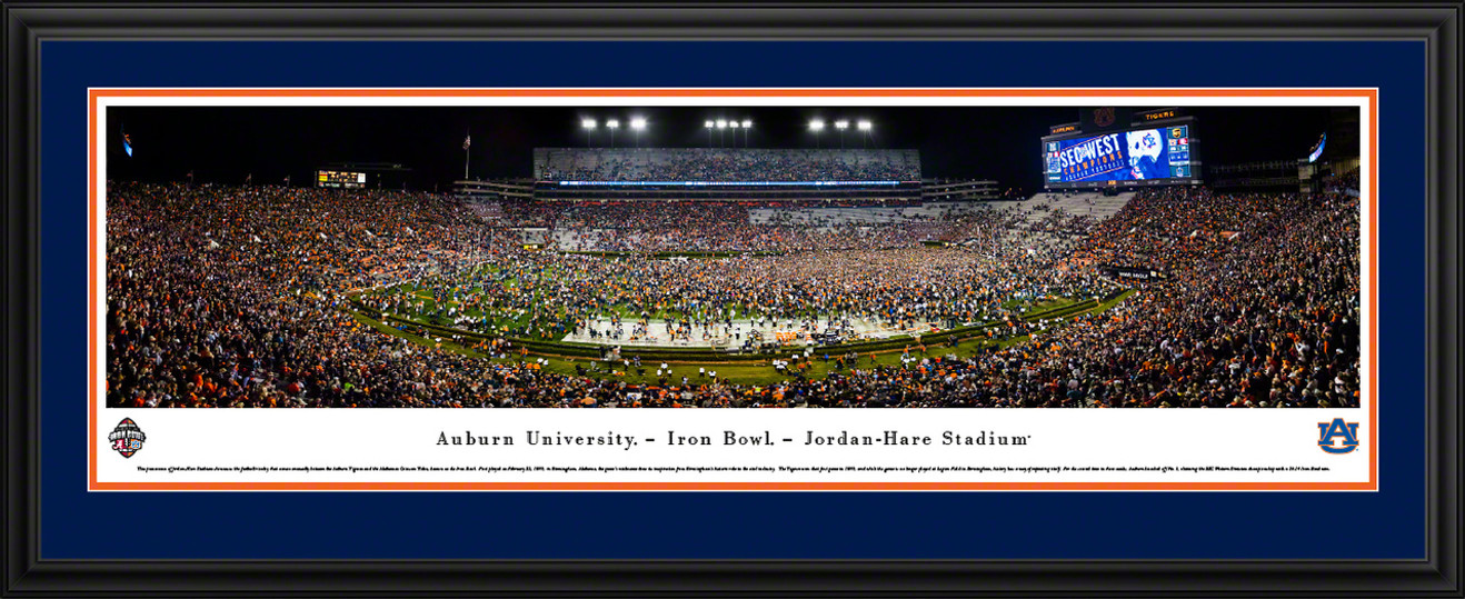 Auburn Tigers Football Panoramic Picture - Iron Bowl