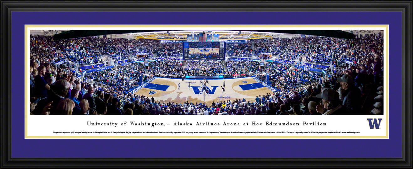 Washington Huskies Basketball Panoramic Picture - Alaska Airlines Arena at Hec Edmundson Pavilion