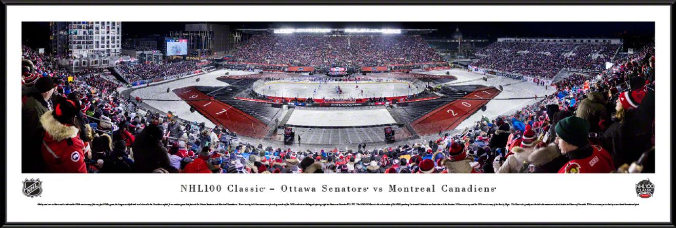 NHL 100 Classic Panoramic Picture - Ottawa Senators vs. Montreal Canadiens