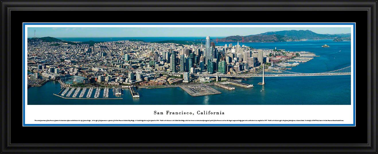 San Francisco, California Aerial City Skyline Panoramic Picture