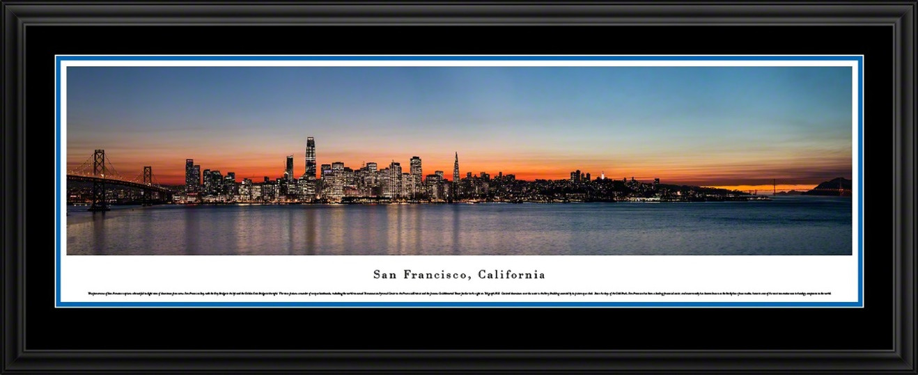 San Francisco, California Panoramic Skyline Picture - Twilight