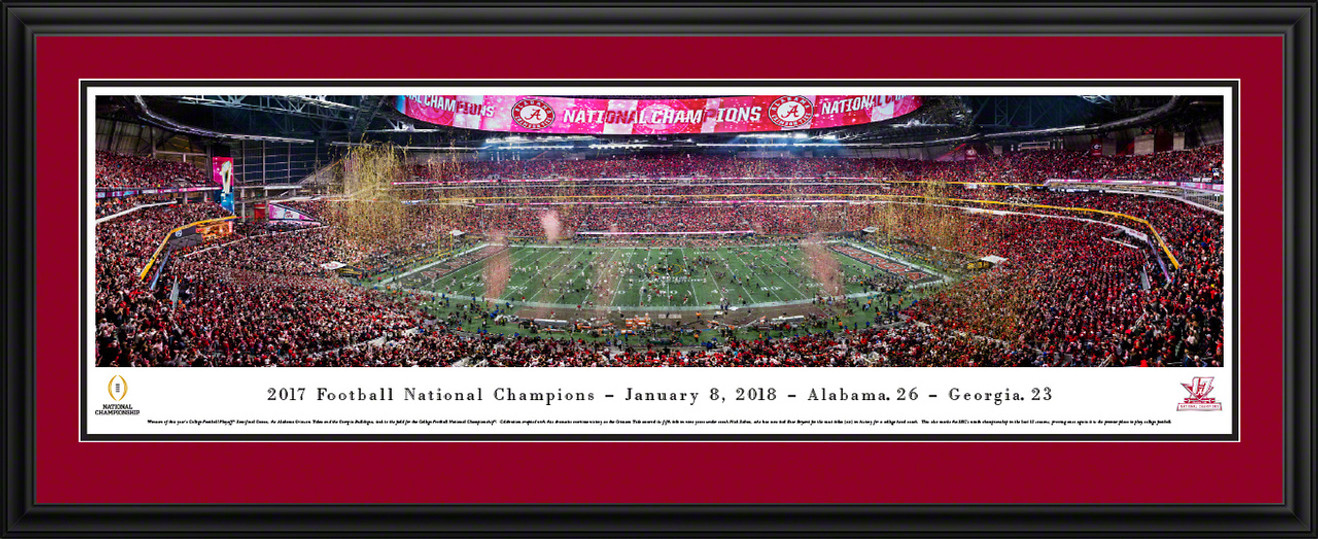 2018 College Football Playoff National Championship Panoramic Picture - Alabama Crimson Tide