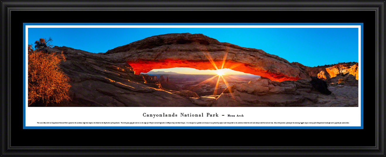 Canyonlands National Park Mesa Arch Scenic Landscape Panoramic Print