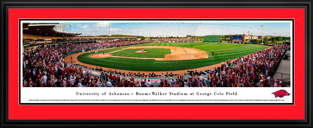 Arkansas Razorbacks Baseball Panorama - Baum-Walker Stadium at George Cole Field