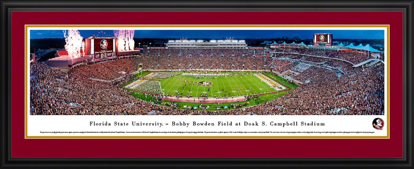 Florida State Seminoles Football Panorama - Doak Campbell Stadium Fan Cave Decor