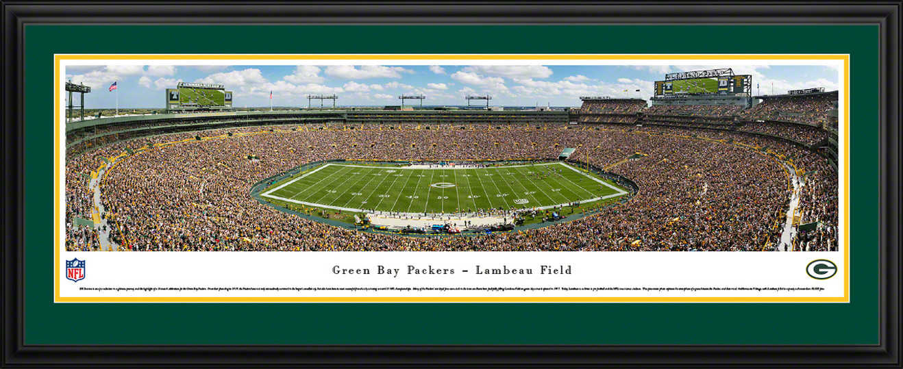 Green Bay Packers Panorama - Lambeau Field Fan Cave Wall Decor