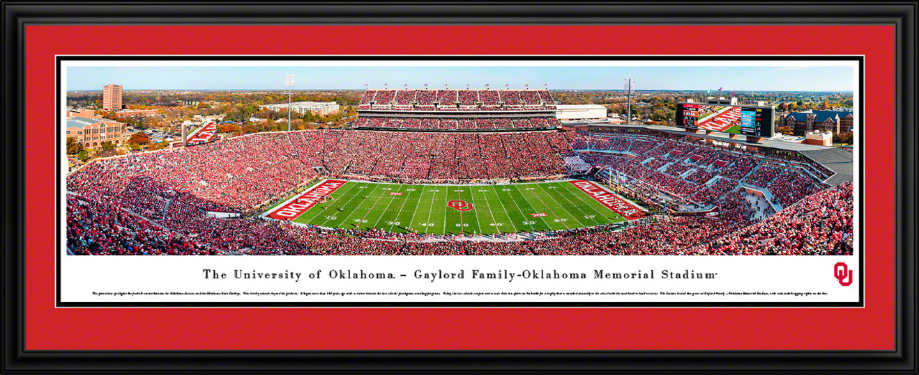 Oklahoma Sooners Football Poster - Panoramic Fan Cave Decor