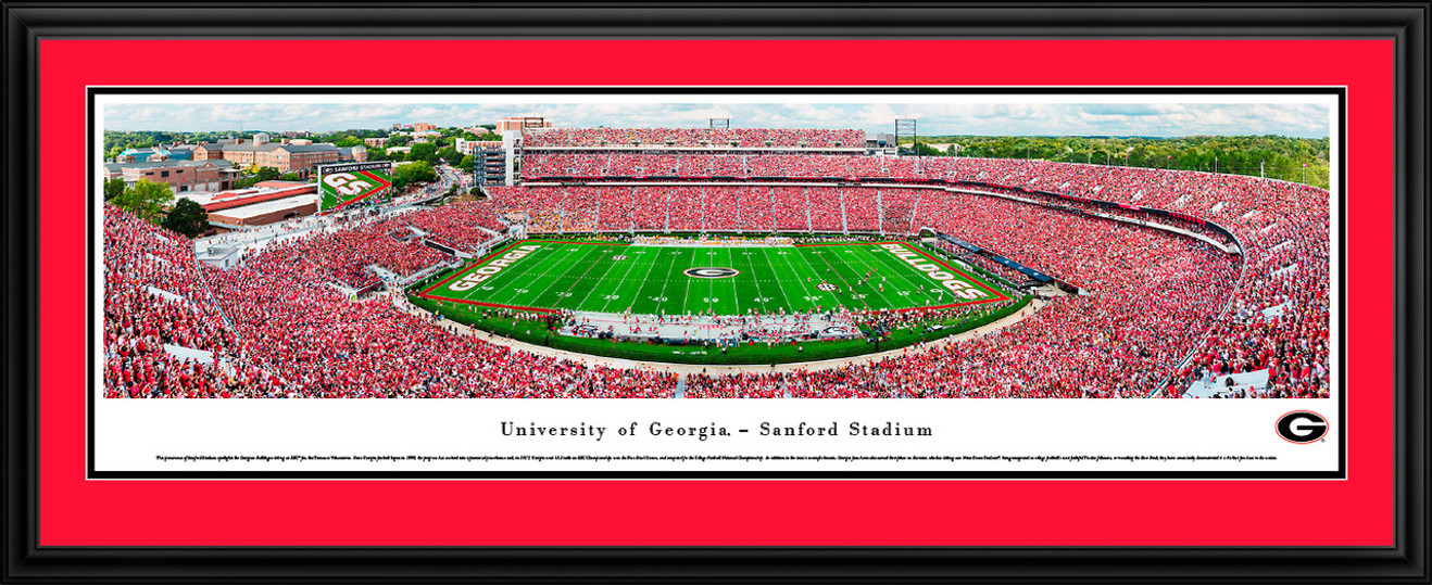 Georgia Bulldogs Football - Sanford Stadium Panoramic Fan Cave Decor
